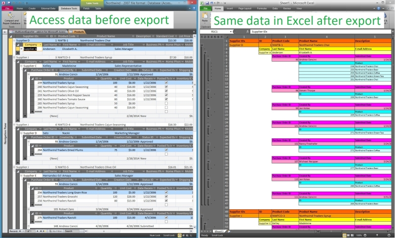 MultiLevelExporter Screen shot